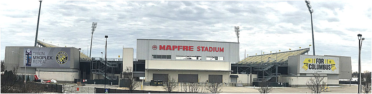 Mapfre Stadium soccer stadium for Columbus Crew in Columbus Ohio