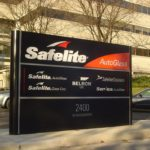 Sign outside of Safelite Auto Glass