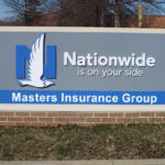 Sign outside of Nationwide insurance headquarters in Columbus Ohio