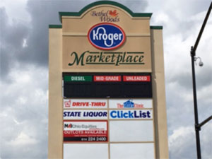 Kroger marketplace plaza sign