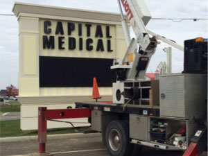 Constructing a sign for Capital Medical