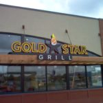 Gold Star Grill sign on outside of restaurant