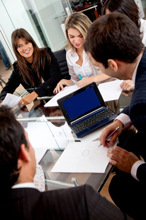 Business people in a meeting, stock image