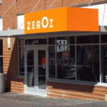 ZerOz storefront and sign