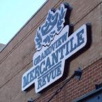 Grandview Mercantile Revue sign on brick building in Grandview Ohio
