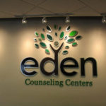 Eden Counseling Centers indoor wall sign