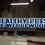 Neon sign in workshop for Healthy Pets of Wedgewood