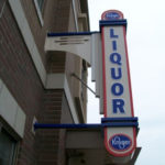 Kroger Liquor Store Vertical Sign