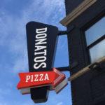 Donato's Pizza Vertical sign with arrow