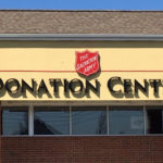 Salvation Army Donation Center sign on front of building