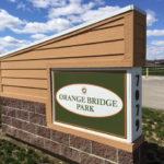 Orange Bridge Park outdoor sign