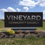 outdoor sign for Vineyard Community Church