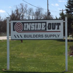 outdoor sign near road for Inside Out Builders Supply