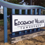 outdoor sign for Edgemont Village Townhomes