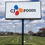 CJ Foods outdoor sign