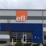 EFL building with sign above door
